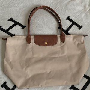 Longchamp Large Pliage tote bag sand beige